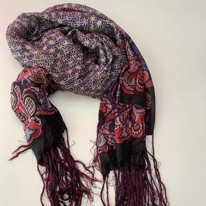 Sandro Silk scarf with fringes